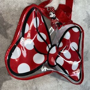 Minnie Mouse Bow Disney Glitter Clear Purse